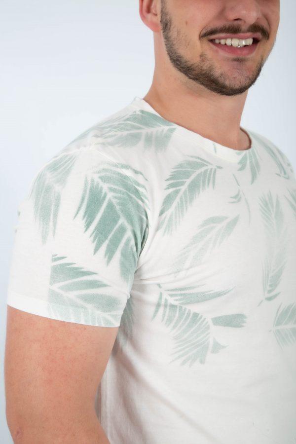 camiseta plumas branco zatom