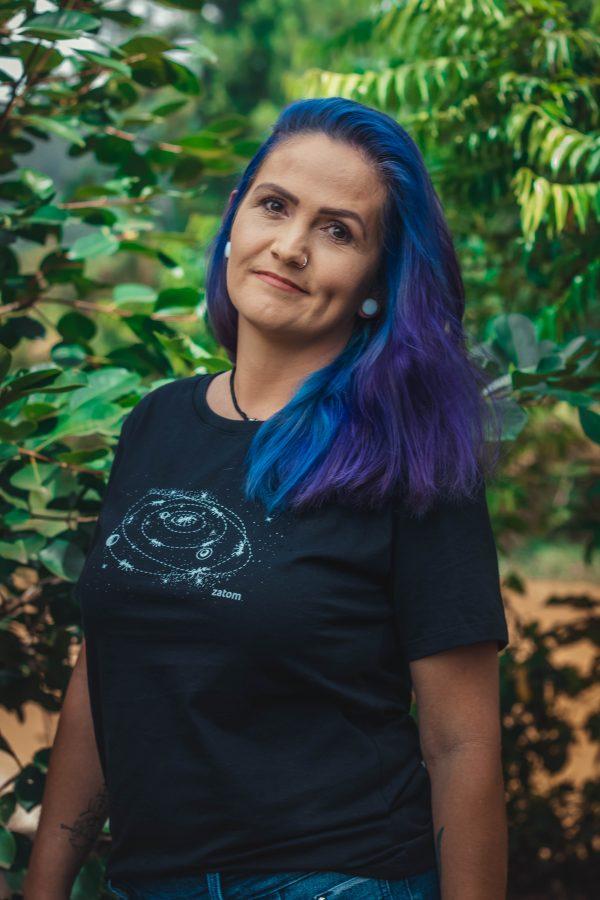 Camiseta cosmos pra quem quer se conectar